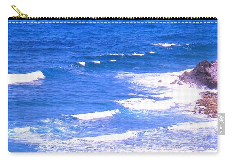 Atlantic Carry-all Pouch featuring the photograph One After Another by Ian MacDonald
