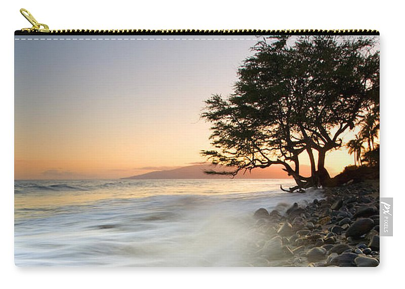 Sunset Carry-all Pouch featuring the photograph One Against The Tides by Mike Dawson