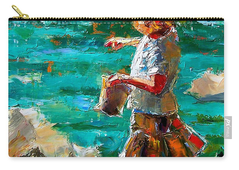 Children Carry-all Pouch featuring the painting One At A Time by Debra Hurd