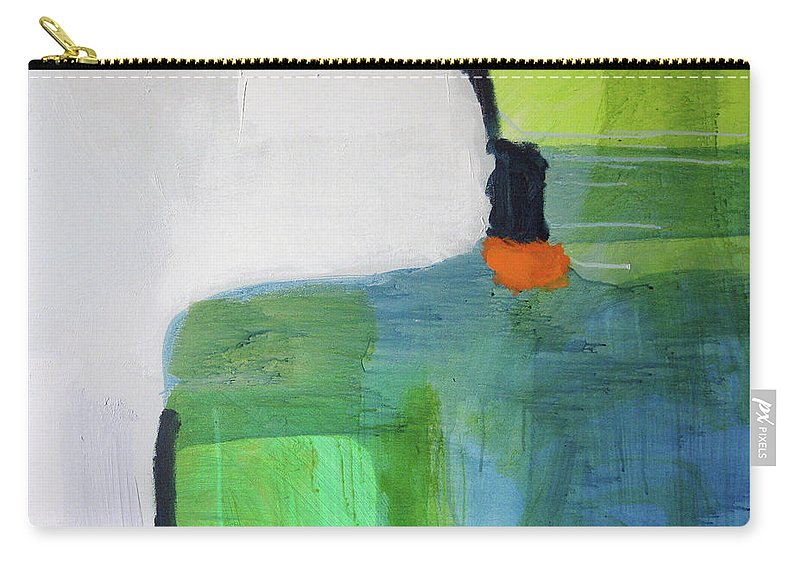 Abstract Carry-all Pouch featuring the painting One Day I Was Dreaming by Claire Desjardins