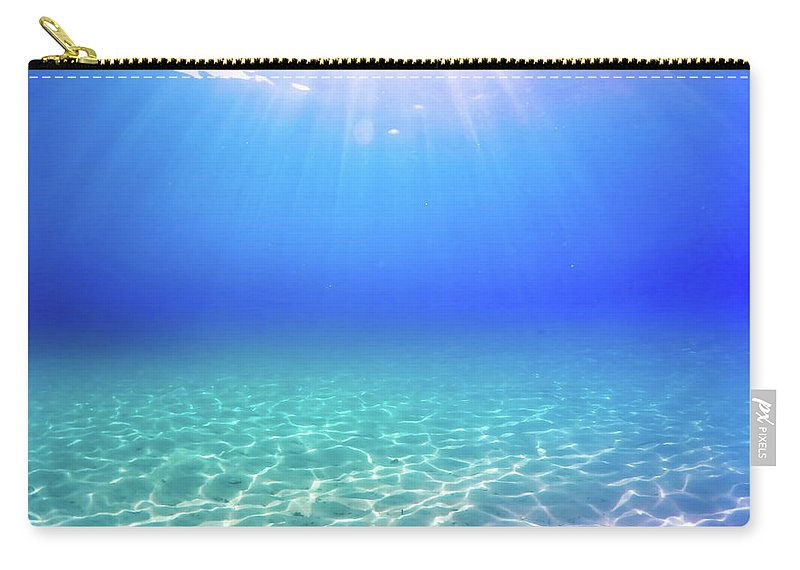 Turquoise Carry-all Pouch featuring the photograph One Deep Breath by Nicklas Gustafsson