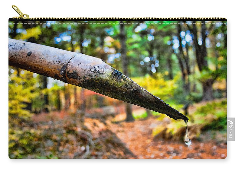 Water Drop Carry-all Pouch featuring the photograph One Drop Amidst The Drought by Mike Smale