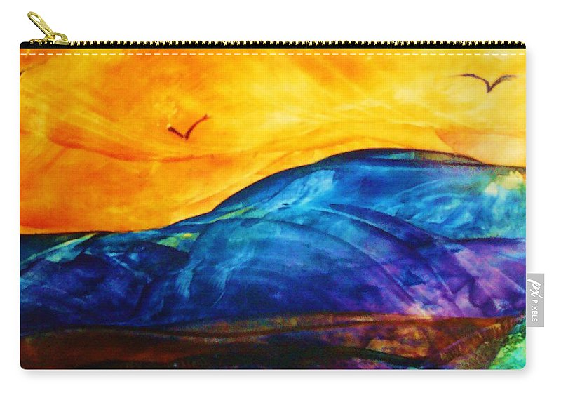 Landscape Carry-all Pouch featuring the painting One Fine Day by Melinda Etzold