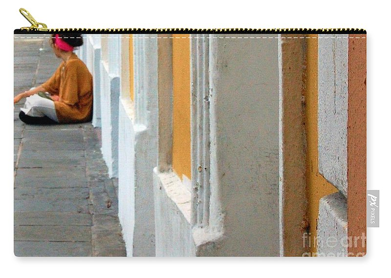 Sidewalk Carry-all Pouch featuring the photograph One Is The Loneliest Number by Debbi Granruth