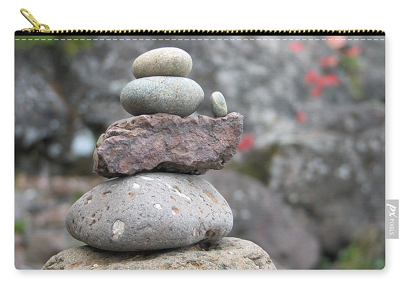 Rocks Carry-all Pouch featuring the photograph One More by Kelly Mezzapelle