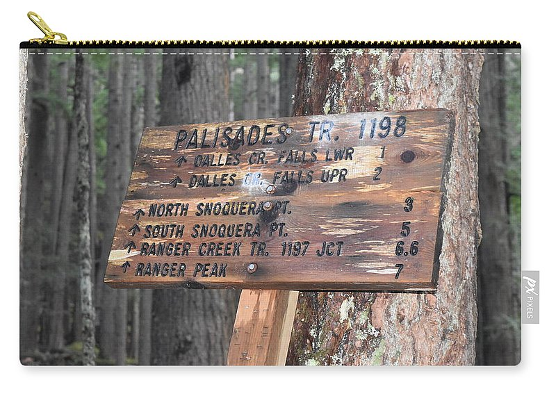 Mile Marker Carry-all Pouch featuring the photograph One More Mile by Thomas Sexton