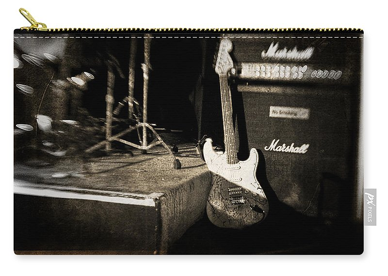 Guitar Carry-all Pouch featuring the photograph One More Show by Scott Pellegrin