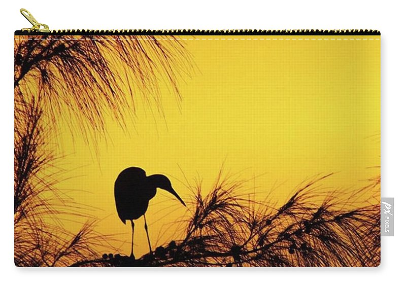 Egret Carry-all Pouch featuring the photograph One Of A Series Taken At Mahoe Bay by John Edwards