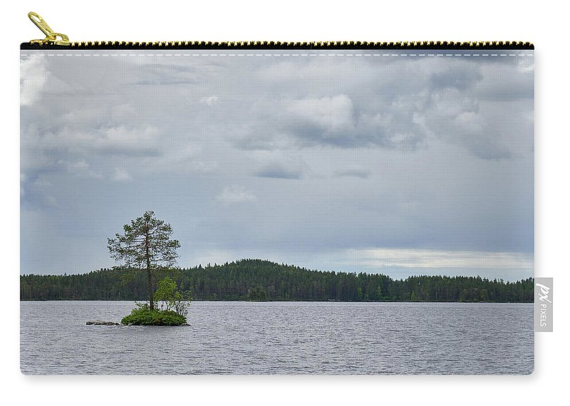 Finland Carry-all Pouch featuring the photograph One Pine Island. Koirajarvi by Jouko Lehto