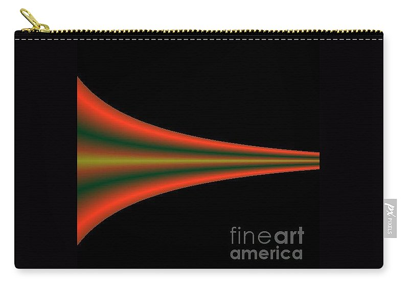 Digital Art Carry-all Pouch featuring the digital art One Way IIi by Dragica Micki Fortuna