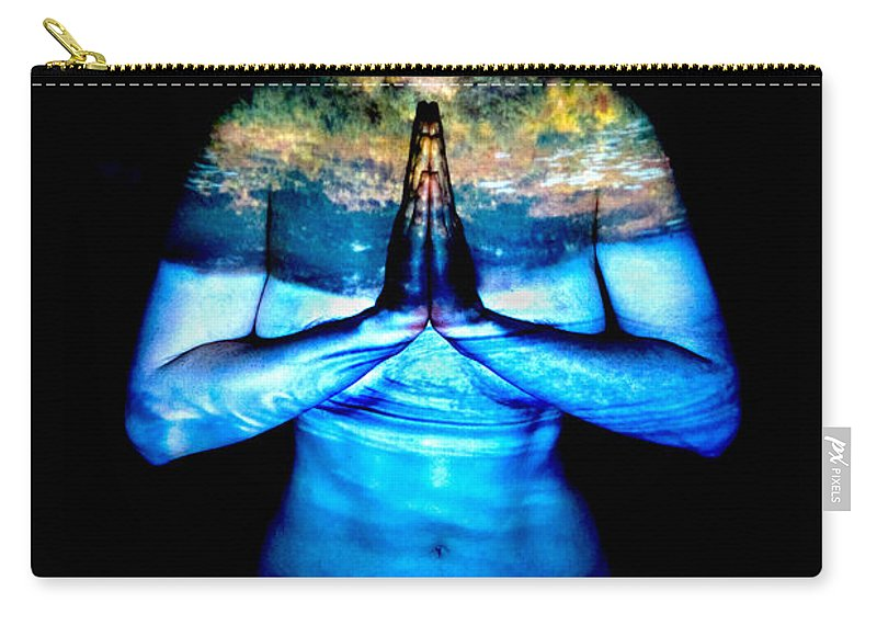 Nature Carry-all Pouch featuring the photograph One With Nature by Greg Fortier