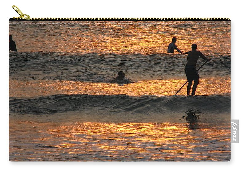 Art For The Wall...patzer Photography Carry-all Pouch featuring the photograph One With Nature by Greg Patzer