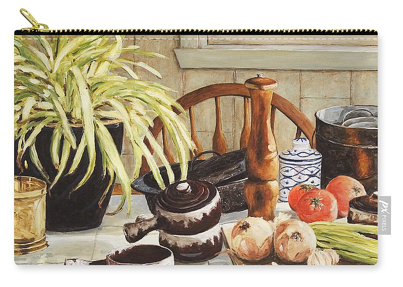 Onion Carry-all Pouch featuring the painting Onion Soup Tonight by Richard T Pranke