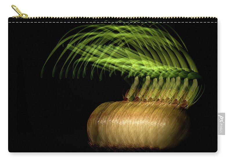 Onion Greens Carry-all Pouch featuring the photograph Onions by Onyonet Photo Studios