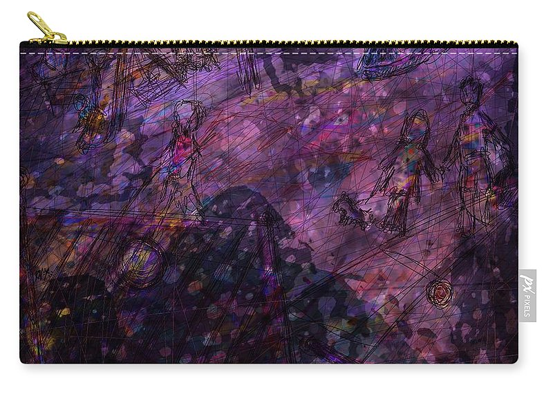 Abstract Carry-all Pouch featuring the digital art Only Memories by Rachel Christine Nowicki