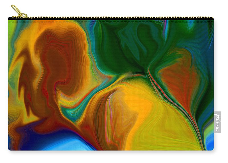 Carry-all Pouch featuring the digital art Only One Love by Ruth Palmer