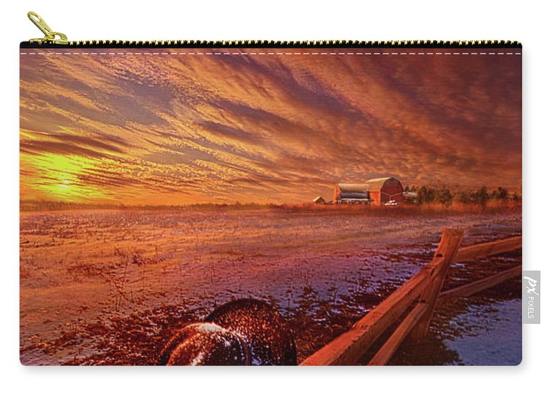 Mood Carry-all Pouch featuring the photograph Only This Moment In Between Before And After by Phil Koch