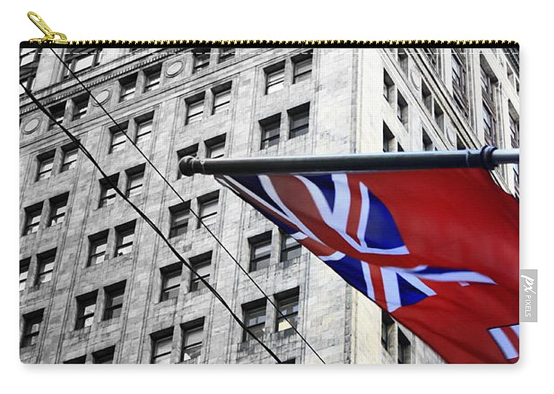 Ontario Carry-all Pouch featuring the photograph Ontario Flag by Valentino Visentini
