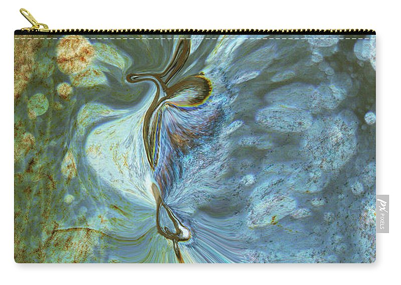 Abstract Carry-all Pouch featuring the digital art Onward by Linda Sannuti