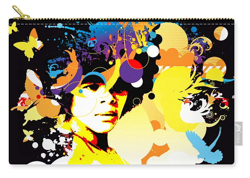 Nostalgic Seduction Carry-all Pouch featuring the photograph Onxy Doves - Bespattered by Chris Andruskiewicz