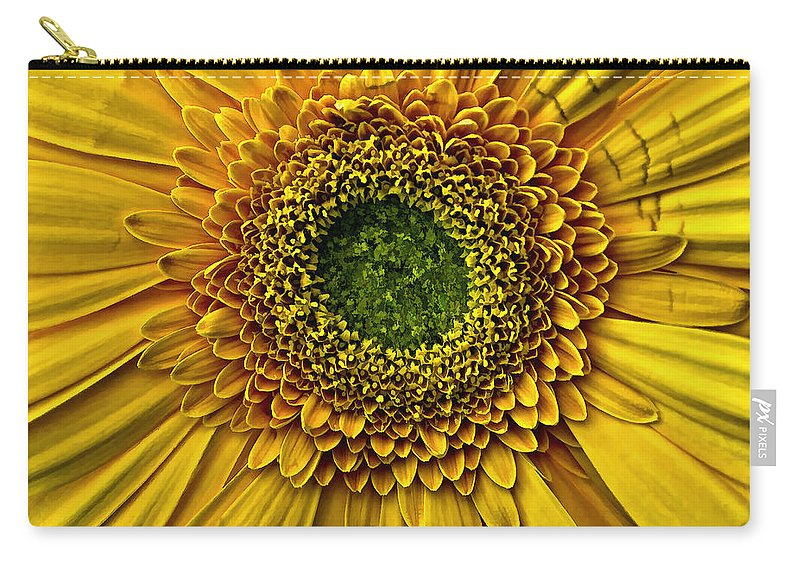 Yellow Carry-all Pouch featuring the photograph Oo by Steve Harrington