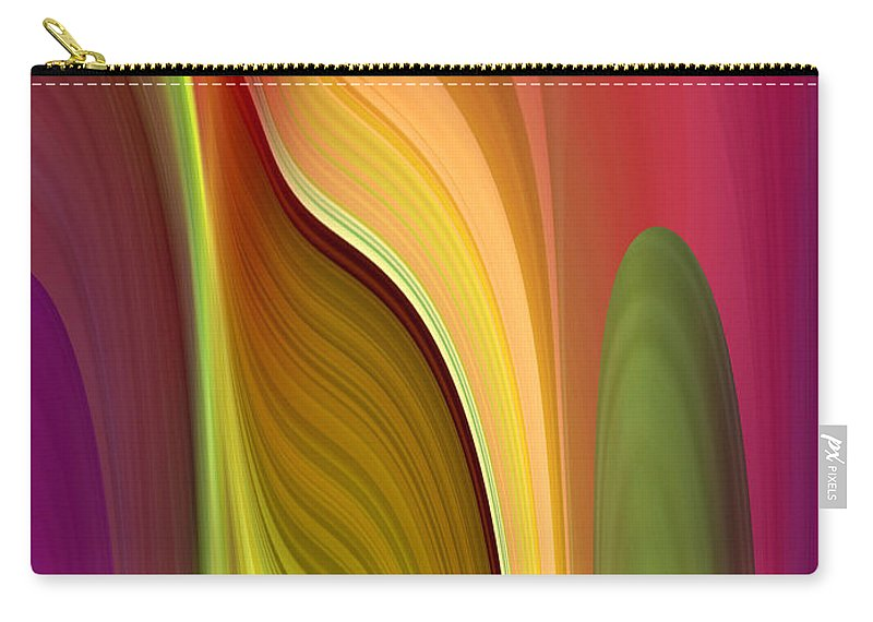 Abstract Carry-all Pouch featuring the digital art Oomph by Ruth Palmer