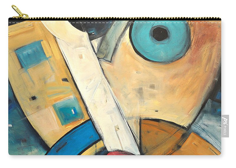 Face Carry-all Pouch featuring the painting Ooo by Tim Nyberg