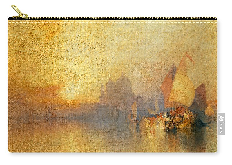 Thomas Moran Carry-all Pouch featuring the painting Opalescent Venice by Thomas Moran