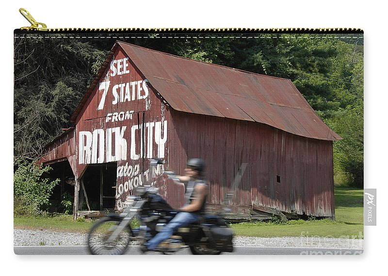 Motorcycle Carry-all Pouch featuring the photograph Open Road by David Lee Thompson