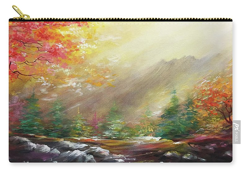 Landscaper Carry-all Pouch featuring the painting Open by Vesna Delevska