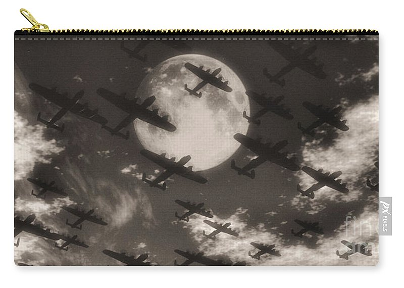 Aviaton Carry-all Pouch featuring the digital art Operation Moonlight by Richard Rizzo