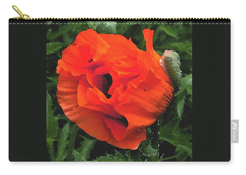 Opium Poppy Carry-all Pouch featuring the photograph Opium by Heather Lennox