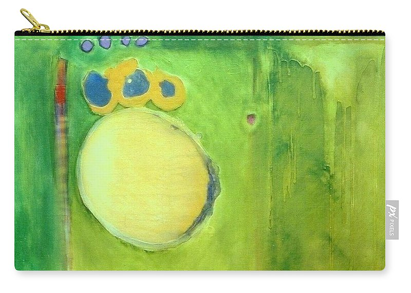 Abstract Carry-all Pouch featuring the painting Optic Nerve by Marlene Burns