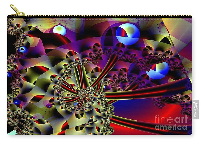 Optic Carry-all Pouch featuring the digital art Optic Nerves by Ron Bissett
