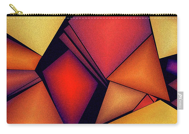Art Carry-all Pouch featuring the digital art Untitled by Alex DONOTE