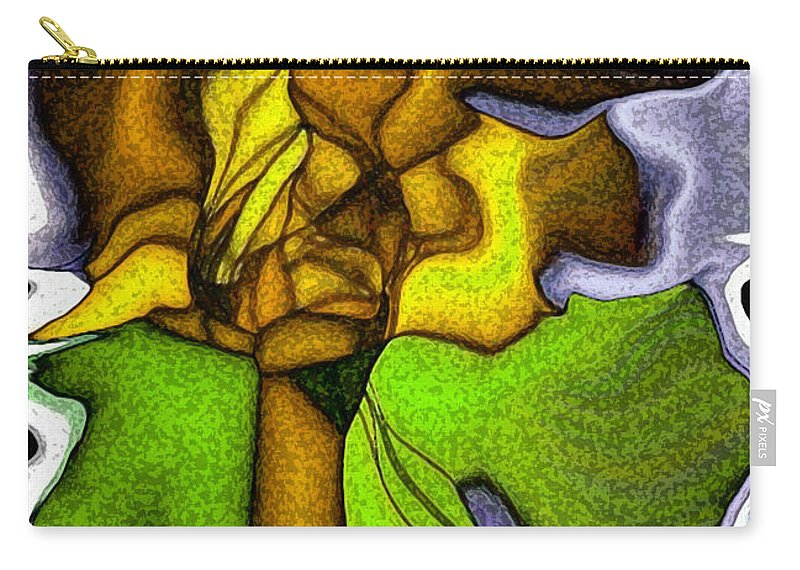 Art Carry-all Pouch featuring the digital art Wild Orchid by Alex DONOTE