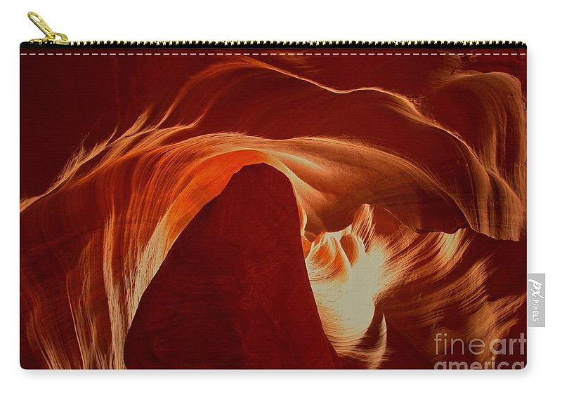 Upper Antelop Carry-all Pouch featuring the photograph Orange Abstract At Upper Antelope by Adam Jewell