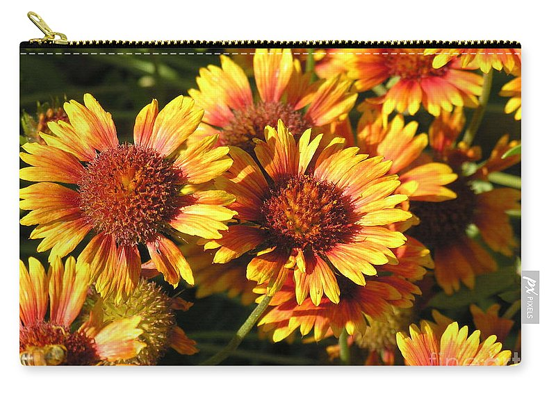 Orange Carry-all Pouch featuring the photograph Orange And Gold by Diane Greco-Lesser