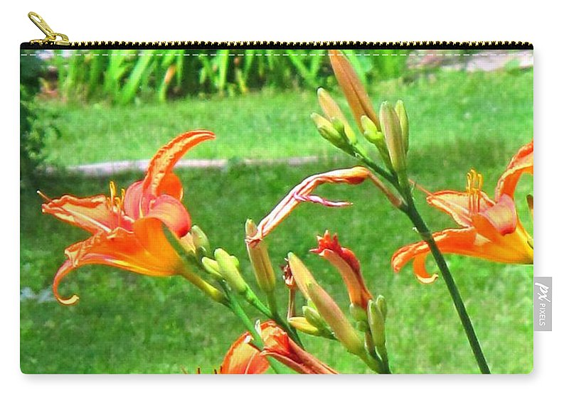 Lilly Carry-all Pouch featuring the photograph Orange And Green by Ian MacDonald
