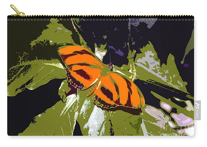 Butterfly Carry-all Pouch featuring the photograph Orange Butterfly by David Lee Thompson