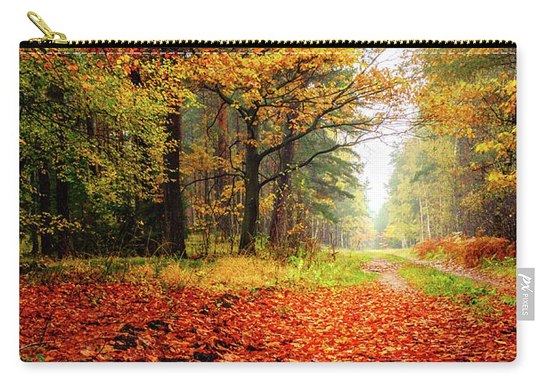 Europe Carry-all Pouch featuring the photograph Orange Carpet by Dmytro Korol