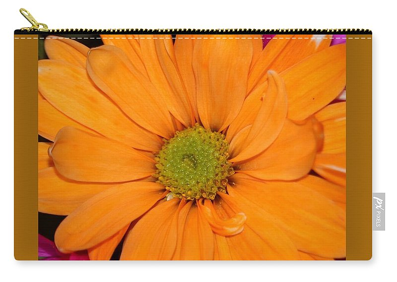 Orange Carry-all Pouch featuring the photograph Orange Crush Daisy by Diann Fisher