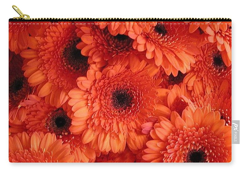 Flowers Carry-all Pouch featuring the photograph Orange Daisies by Tom Reynen