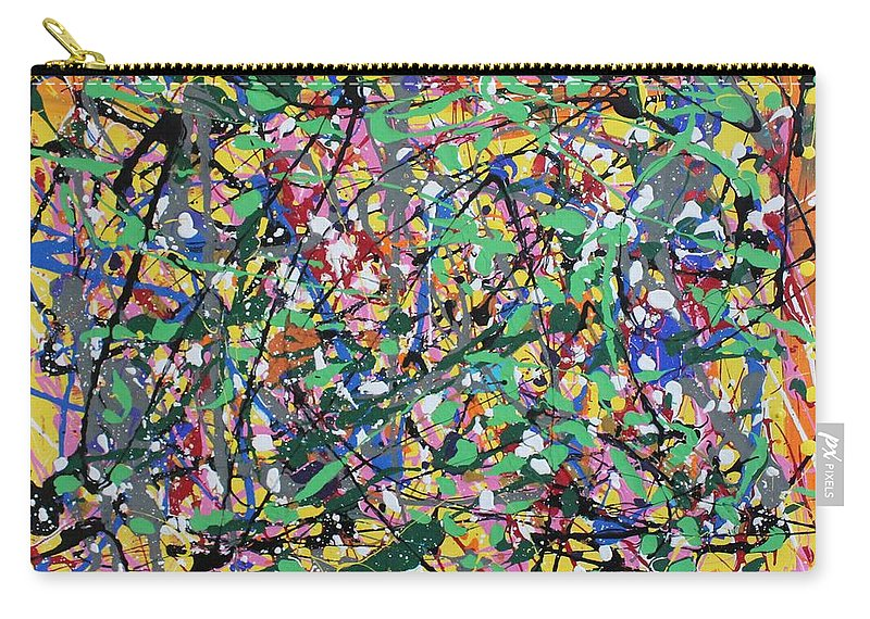 Colorful Carry-all Pouch featuring the painting Orange Delight by Pam Roth O'Mara