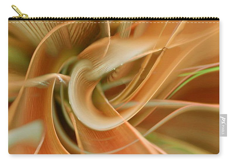 Abstarct Art Carry-all Pouch featuring the digital art Orange Delight by Linda Sannuti