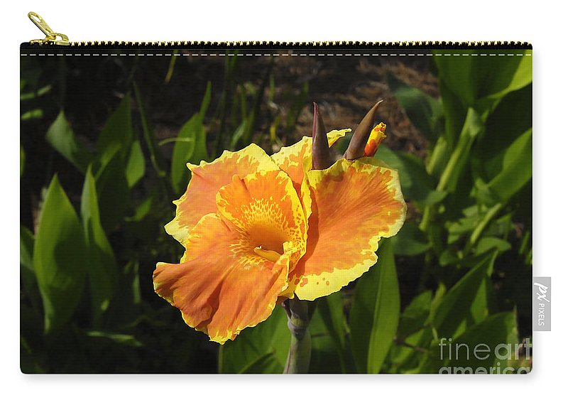 Flower Carry-all Pouch featuring the photograph Orange Flower by David Lee Thompson