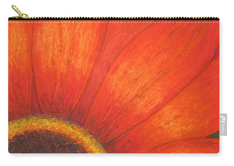 Nature Carry-all Pouch featuring the pastel Orange Flower by Stella Velka