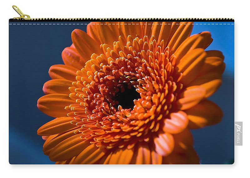 Flower Carry-all Pouch featuring the photograph Orange Flower by Svetlana Sewell