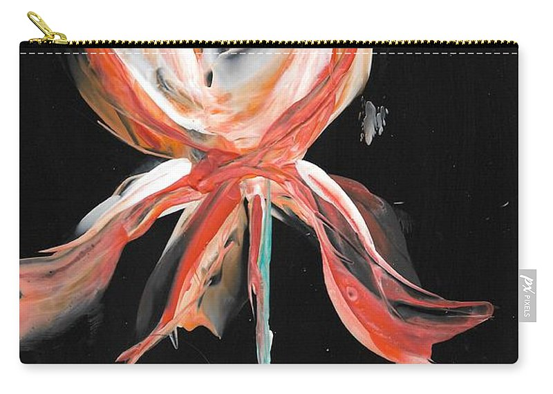 Orange Carry-all Pouch featuring the painting Orange Iris Bulb by Bonny Butler