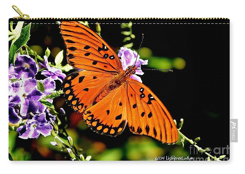 Orange Marvel Carry-all Pouch featuring the photograph Orange Marvel by Lisa Renee Ludlum